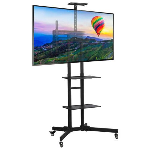 adjustable mobile tv stand mount universal flat
