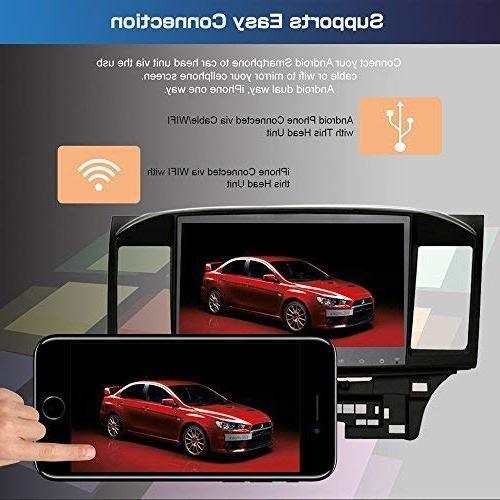 SYGAV Android HD Radio GPS 2008 Mitsubishi Evo X Galant Without OEM