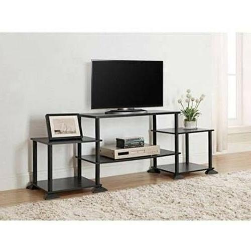 Flat Screen TV Stand Wood Storage Cabinet Home Media Console