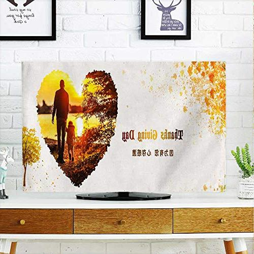 tv protective cover thanksgiving poster