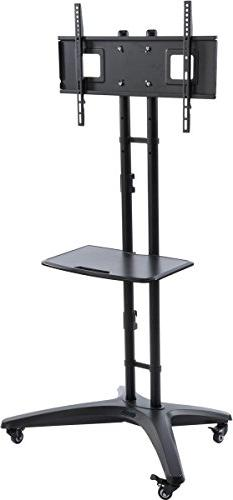 "HDTV LCD Cart and Stand, Fits 32"" - 65"" TVs, Height Adjustab"