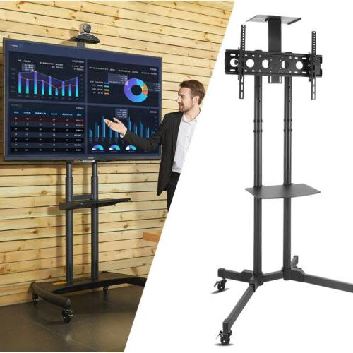 mobile rolling tv cart stand lcd led