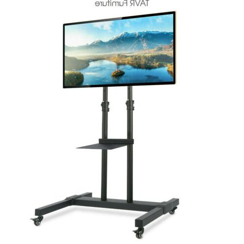 mobile tv cart floor stand with height