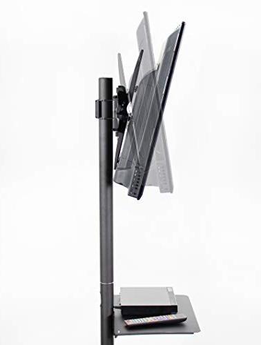 VIVO Mobile TV Flat Screen Floor Stand Wheels | to