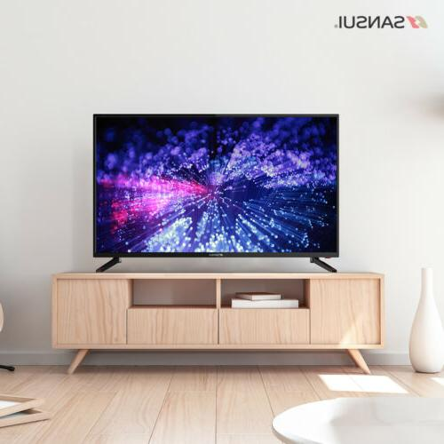 """SANSUI 40"""" 43'' TV TV with Flat Screen"""