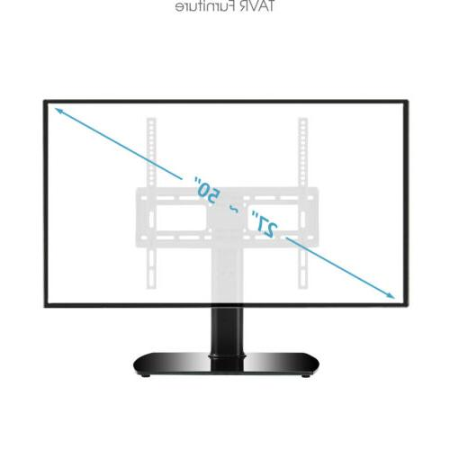 Tabletop TV Stand with Swivel Mount 27''-55'' LED LCD Plasma Screen TVs