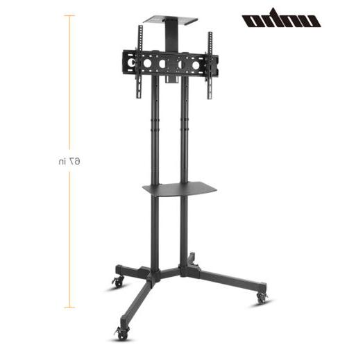 tv display floor stand height adjustable mount