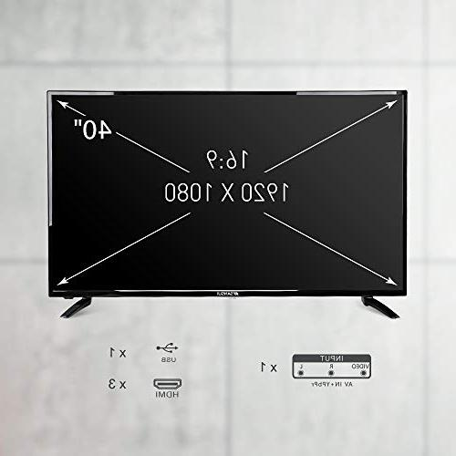 SANSUI TV 40'' with Flat Screen Widescreen Monitor x HDMI