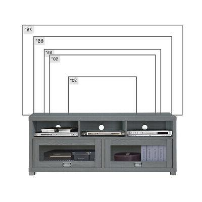 TV Stand 58 To inch Flat Screen Entertainment Media Console