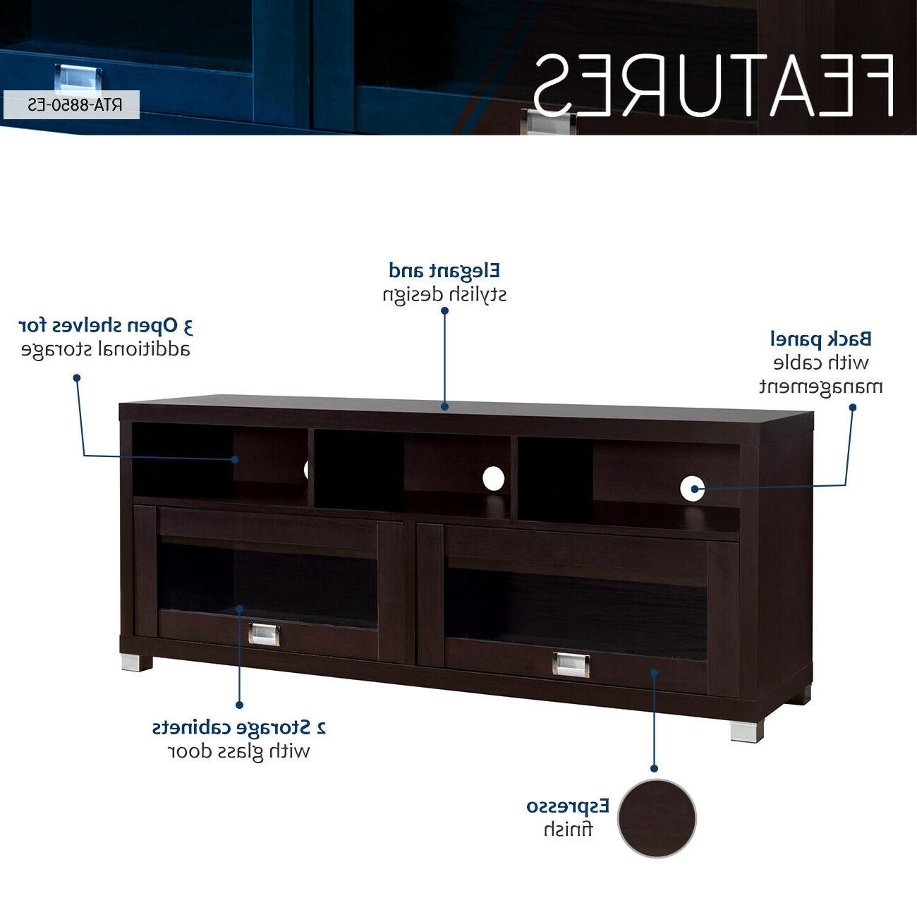 TV Stand Inch Flat Media Home