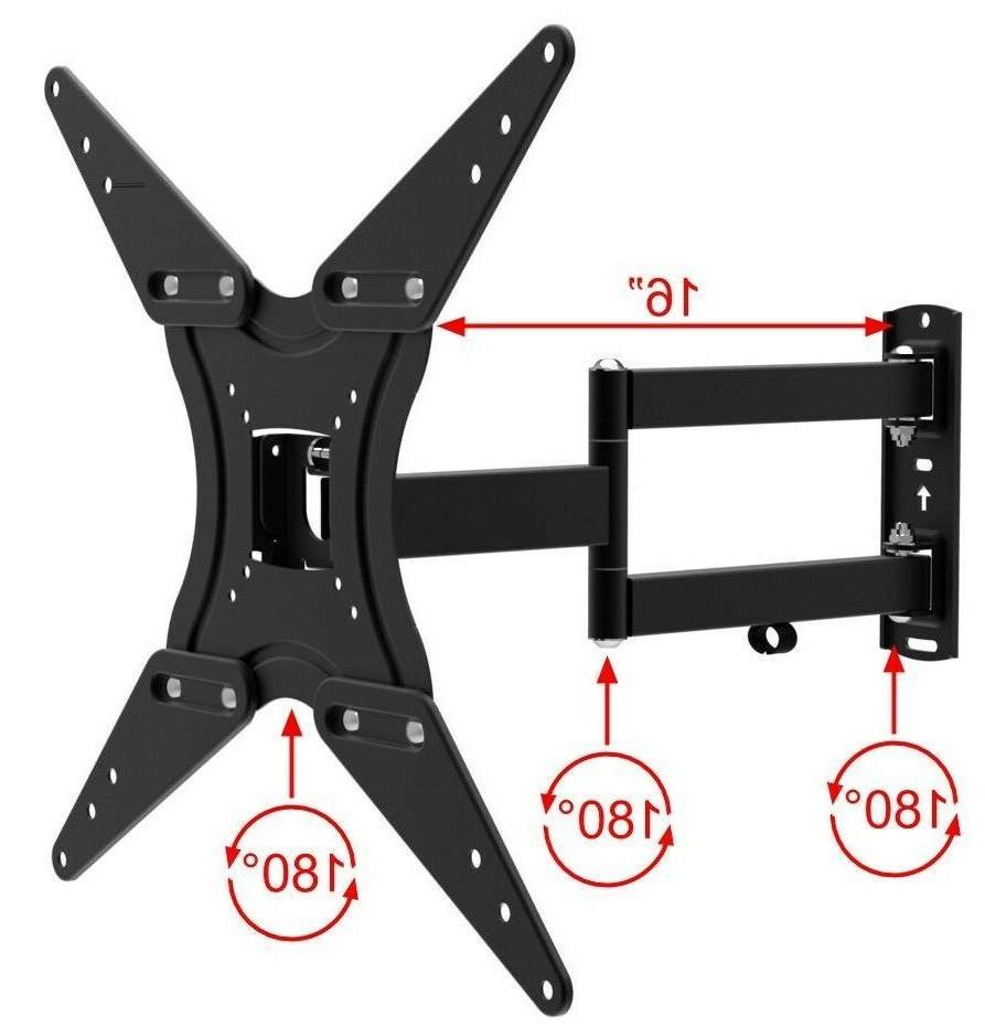 tv wall mount full motion bracket fits