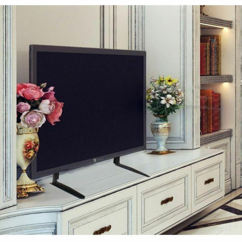 Universal Adjustable Screen TV Base Tabletop Pedestal Mount LCD