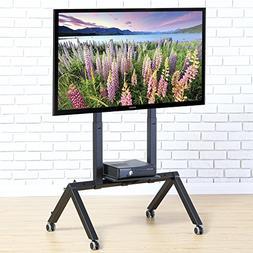 FITUEYES Mobile TV Cart for LCD LED Plasma Flat Panel TV Sta