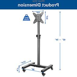 Mobile TV Stand with Wheels for 13-42 inch LCD LED Flat Scre