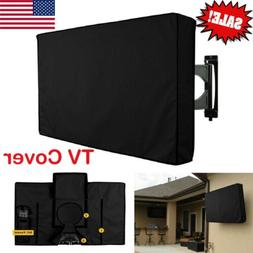 New TV Cover Outdoor For Flat Screens Black Weatherproof Pro