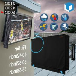 Outdoor TV Cover Flat Screen Weatherproof Television Protect