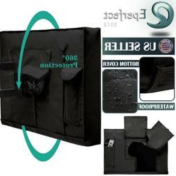 Outdoor TV Cover For Flat Screens Weatherproof Waterproof Te