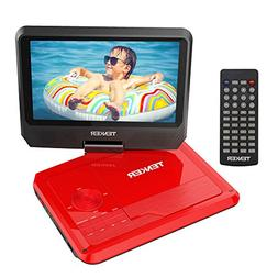 "TENKER 9.5"" Portable DVD Player with Swivel Screen, Recharge"