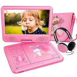 "FUNAVO 10.5"" Portable DVD Player with Headphone, Carring Cas"