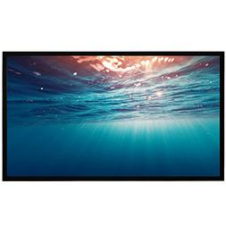 Projector Screen Fixed Frame, 120 Inch 4K Ultra HD Indoor Ou