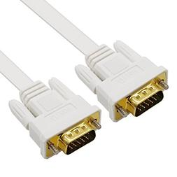 DTECH Slim Flexible VGA Cable 100 Feet Male to Male 1080p Hi