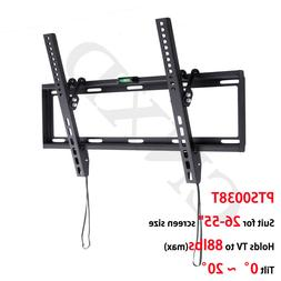 "Slim Tilting TV Wall Mount Bracket Holder 26-55"" Inch Flat S"