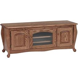 Solid Oak Queen Anne TV Stand w/Cabinet #1076