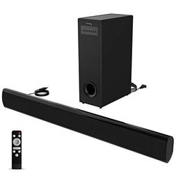 Soundbar with Subwoofer meidong TV Sound Bar with Sub Wired