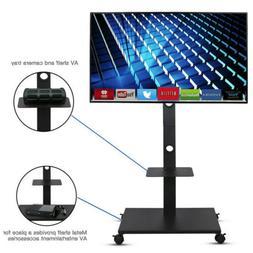 TV Cart Stand Plasma LCD LED Flat Screen Panel w/ Wheels Mob