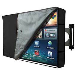TV Cover Outdoor Waterproof Protector Black With Clear Scree