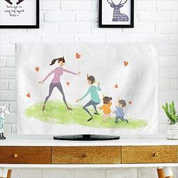aolankaili tv dust Cover Warm Parent Child Game Illustration