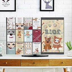 aolankaili tv dust Cover The Year Dog Year Illustration Desk