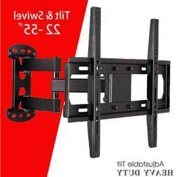 "TV Wall Mount Bracket Full Motion Swing Arm fr 32~55"" LCD LE"