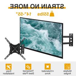 "TV Wall Mount Tilt Swivel Flat Screen Full Motion 14""17""21""2"