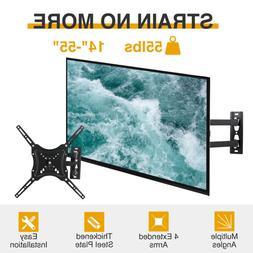 """TV Wall Mount Tilt Swivel Flat Screen Full Motion 14""""17""""21""""2"""