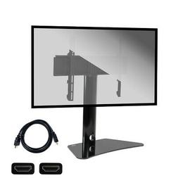 Universal Flat Screen Table Top TV Stand Mount Glass Base 32