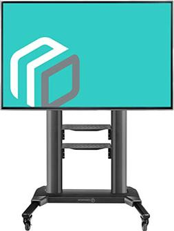 ONKRON Universal Mobile TV Stand with Shelves TV Cart on Whe