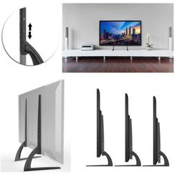 Universal Modern LCD Flat Screen TV Table Top Mount Stand Bl