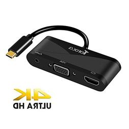 USB C to HDMI VGA Adapter, 3-IN-1 Type-C to HDMI 4K – 1080